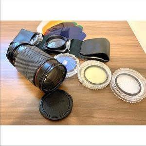 Vintage Tokina sd 35-200mm lens with accessories
